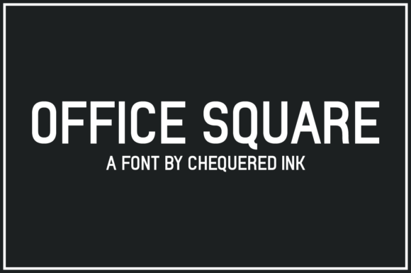 Print on Demand: Office Square Sans Serif Font By Chequered Ink