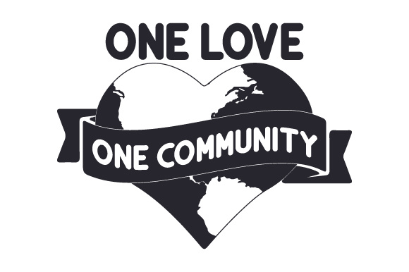 Download Free One Love One Community Svg Cut File By Creative Fabrica Crafts for Cricut Explore, Silhouette and other cutting machines.