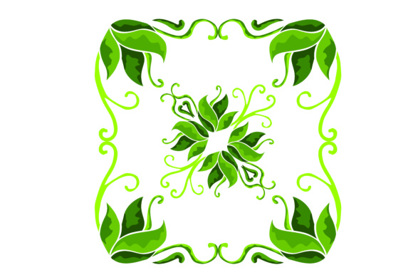 Print on Demand: Ornament Floral Green Graphic Illustrations By Arief Sapta Adjie