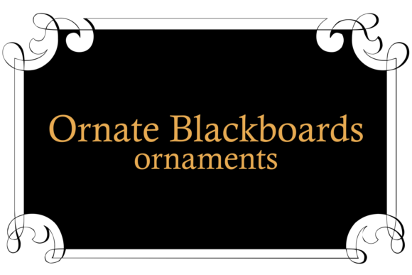 Print on Demand: Ornate Blackboards Dingbats Font By Intellecta Design