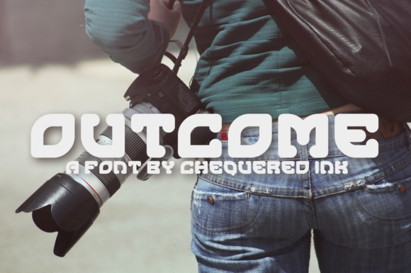 Print on Demand: Outcome Display Font By Chequered Ink