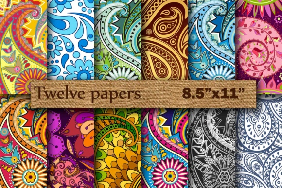Paisley Digital 8.5 Graphic Backgrounds By twelvepapers