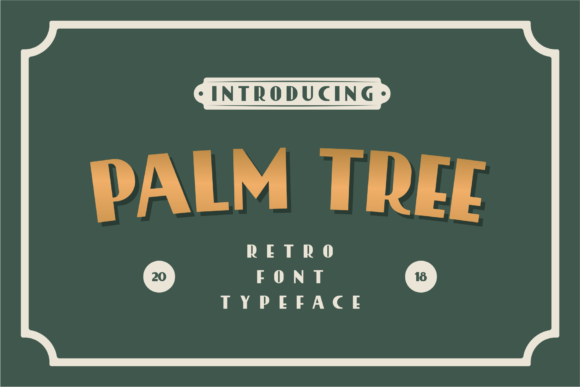 Print on Demand: Palm Tree Serif Font By Nur Cholis