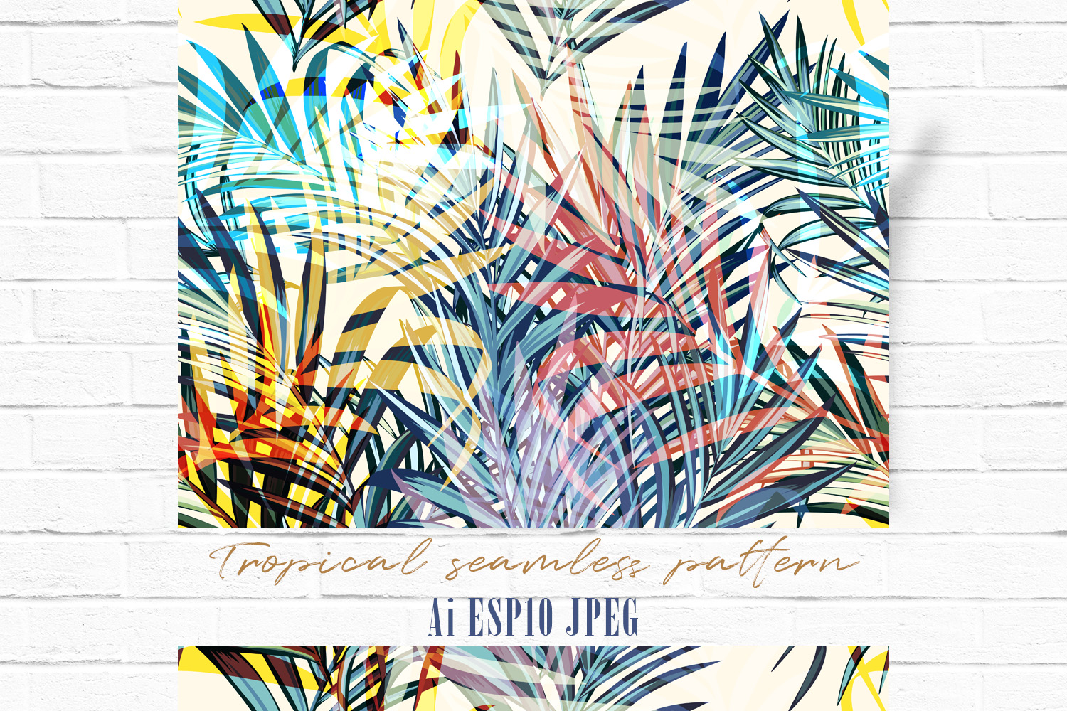Download Free Palm Leaves Vector Seamless Pattern Graphic By Fleurartmariia for Cricut Explore, Silhouette and other cutting machines.
