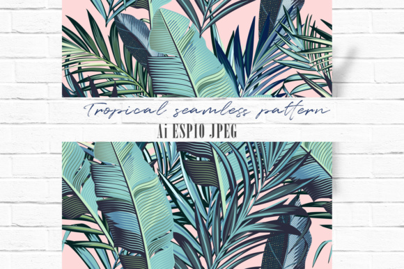 Palm Leaves Vector Seamless Pattern Graphic Patterns By fleurartmariia