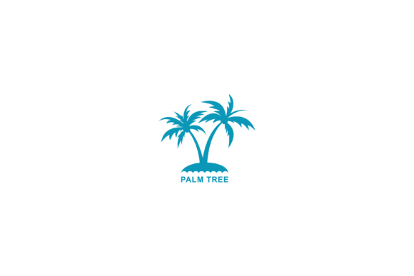 Print on Demand: Palm Tree Vector Illustration Graphic Logos By sabavector