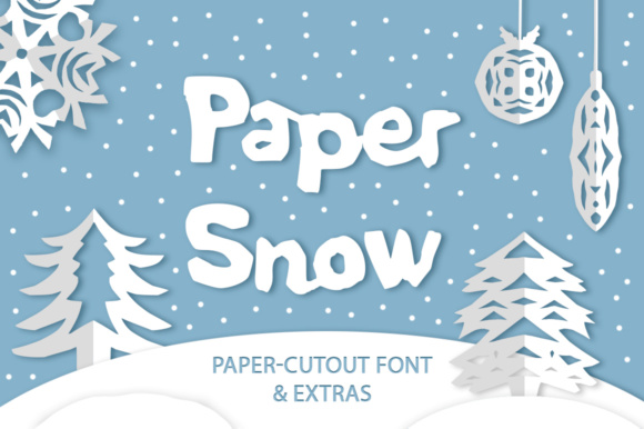 Print on Demand: Paper Snow Display Font By Red Ink