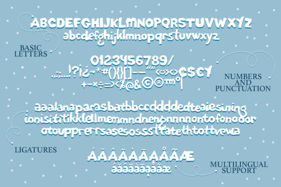 Print on Demand: Paper Snow Display Font By Red Ink - Image 10