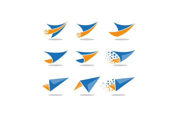 Download Free Paper Plane Vector Logo Graphic By Hartgraphic Creative Fabrica for Cricut Explore, Silhouette and other cutting machines.