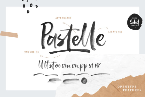 Print on Demand: Pastelle Color Fonts Font By letterhend - Image 1