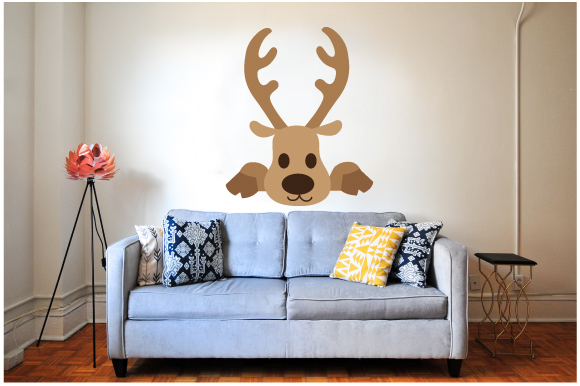 Download Free Peek A Boo Raindeer Svg Cut File By Creative Fabrica Crafts for Cricut Explore, Silhouette and other cutting machines.