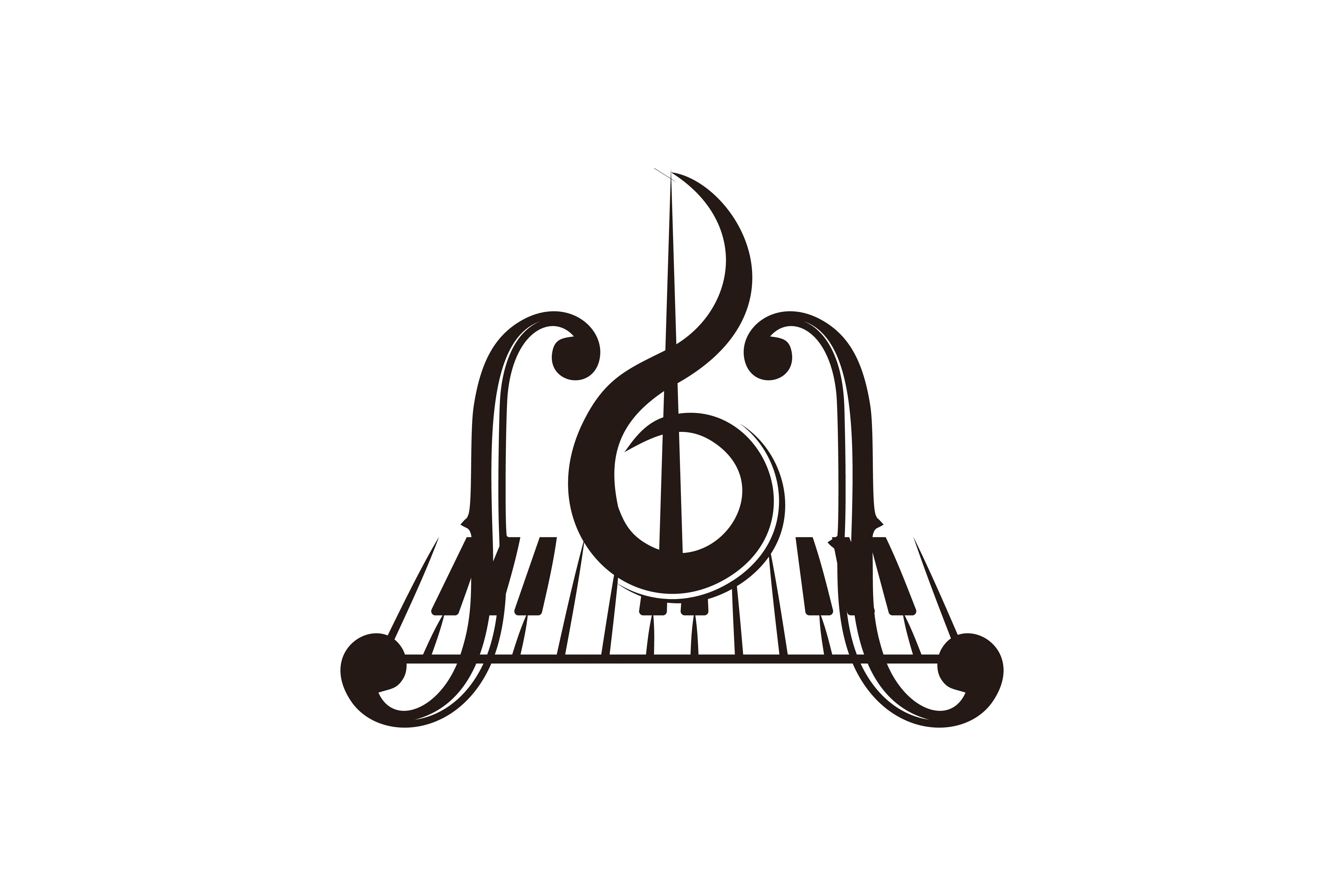Download Free Piano Key Musical Logo Graphic By Yahyaanasatokillah Creative for Cricut Explore, Silhouette and other cutting machines.