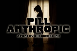 Pill Anthropic Font By Chequered Ink