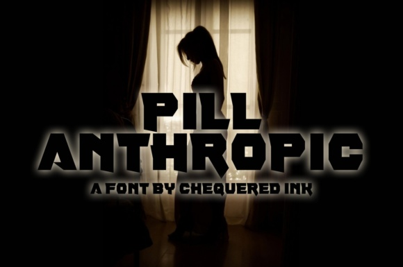 Print on Demand: Pill Anthropic Display Font By Chequered Ink