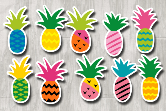 Download Free Pineapple Funky Modern Graphic By Revidevi Creative Fabrica SVG Cut Files
