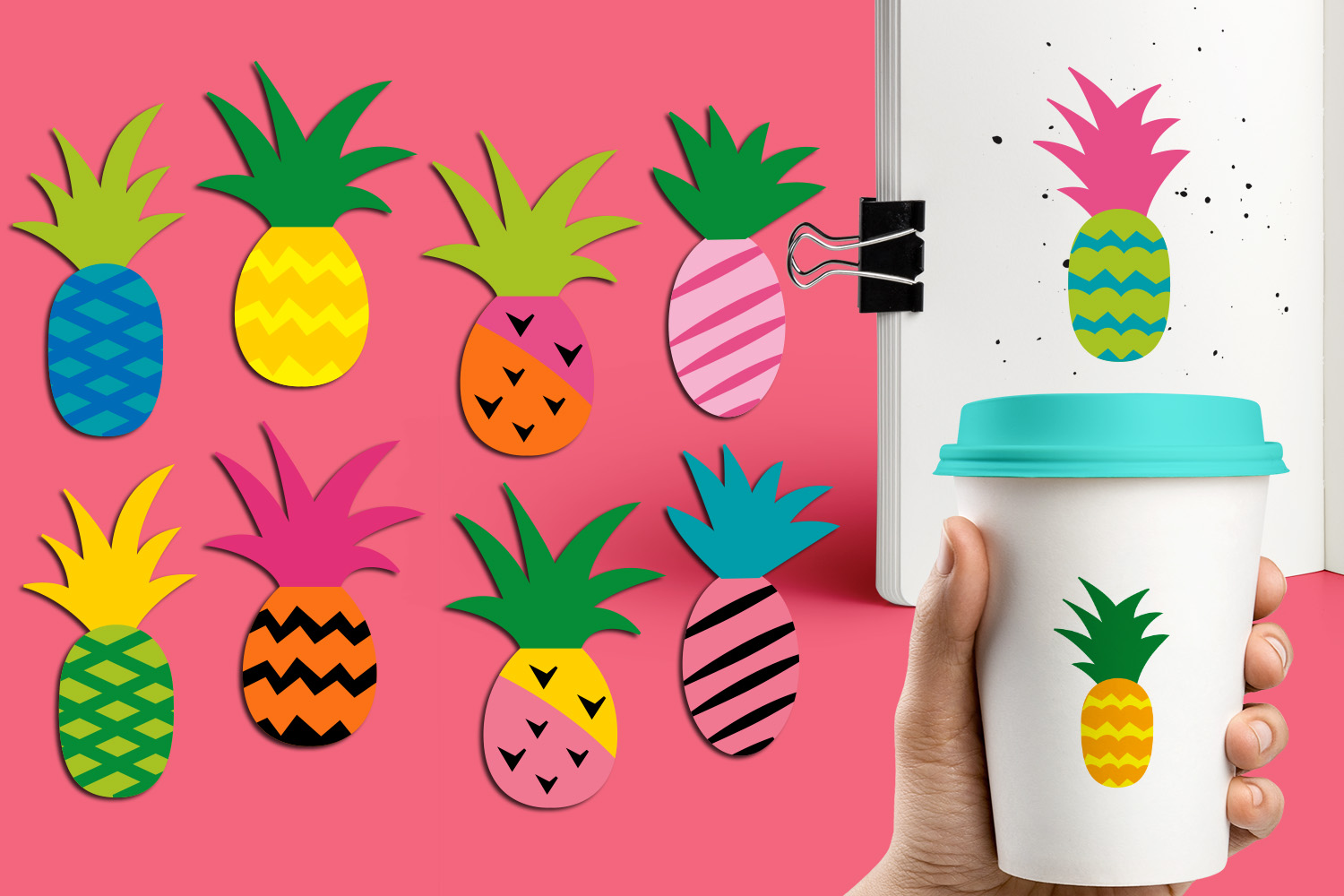 Download Free Pineapple Funky Modern Graphic By Revidevi Creative Fabrica for Cricut Explore, Silhouette and other cutting machines.