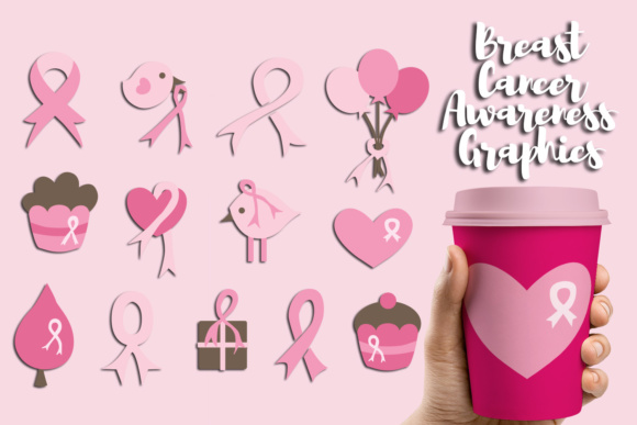 Print on Demand: Pink Ribbon Breast Cancer Awareness Graphic Illustrations By Revidevi