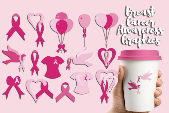 Print on Demand: Pink Ribbon Day Graphic Illustrations By Revidevi