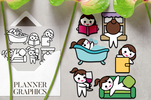 Print on Demand: Planner Girl Me Time Graphic Illustrations By DarraKadisha