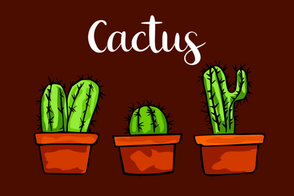 Print on Demand: Plant Cactus Bundle Graphic Illustrations By Arief Sapta Adjie