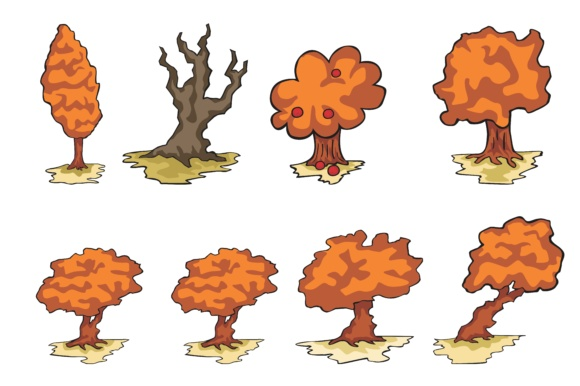 Print on Demand: Plant Tree Bundle Graphic Illustrations By Arief Sapta Adjie