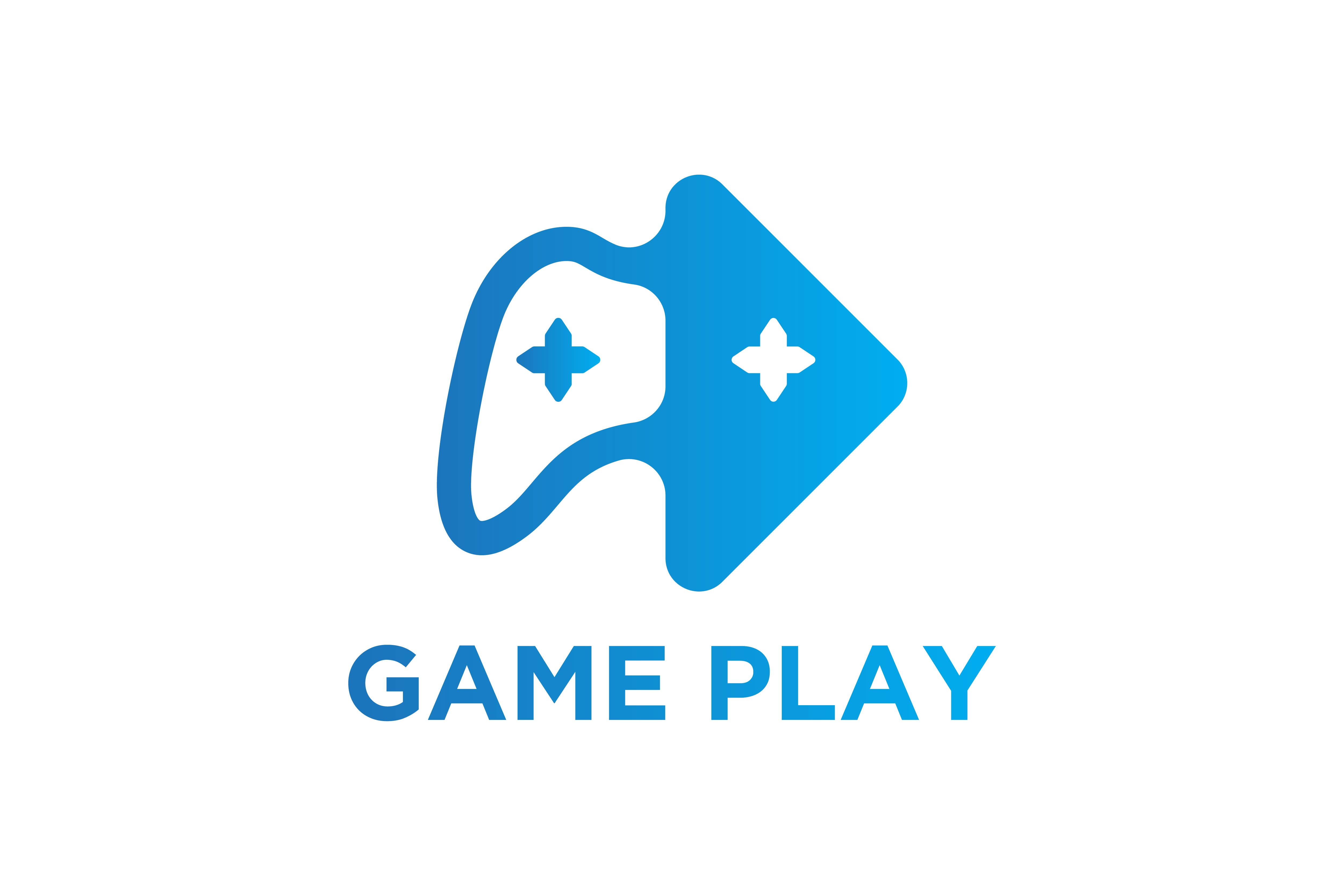 Download Free Play Button And Joy Stick Gaming Logo Graphic By for Cricut Explore, Silhouette and other cutting machines.