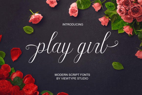 Print on Demand: Play Girl Script & Handwritten Font By Viewtype