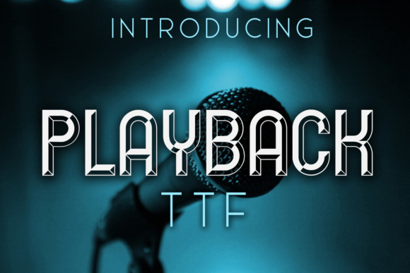 Print on Demand: Playback Display Font By vladimirnikolic
