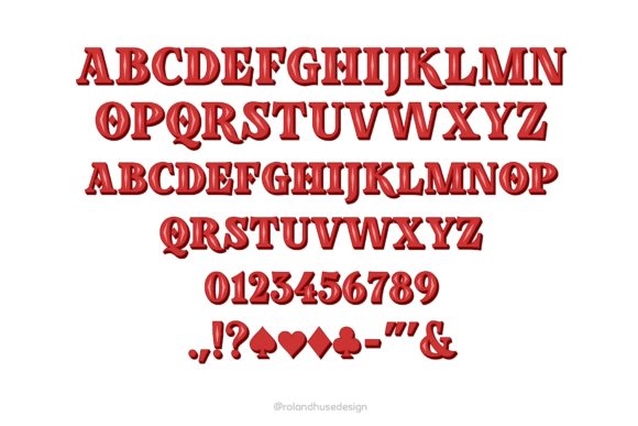 Print on Demand: Poker in October Color Fonts Font By Roland Hüse Design - Image 2