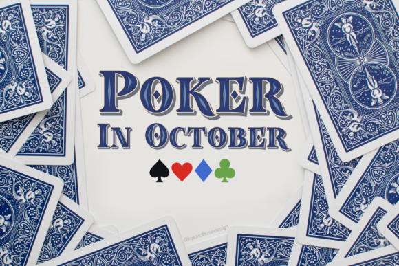 Print on Demand: Poker in October Color Fonts Font By Roland Hüse Design - Image 1