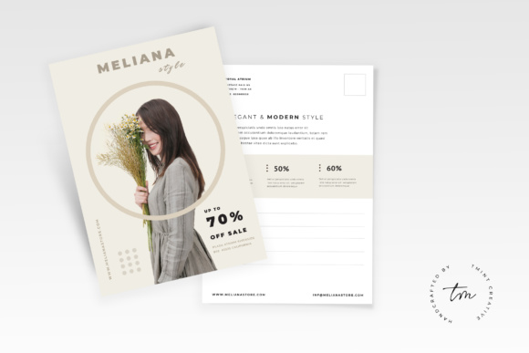 Postcard Flyer Graphic Print Templates By TMint