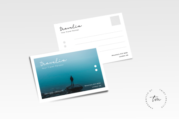 Postcard Graphic Print Templates By TMint
