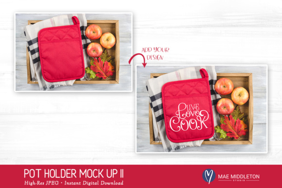 Download Free Pot Holder Mock Up Graphic By Maemiddletonstudio Creative Fabrica for Cricut Explore, Silhouette and other cutting machines.