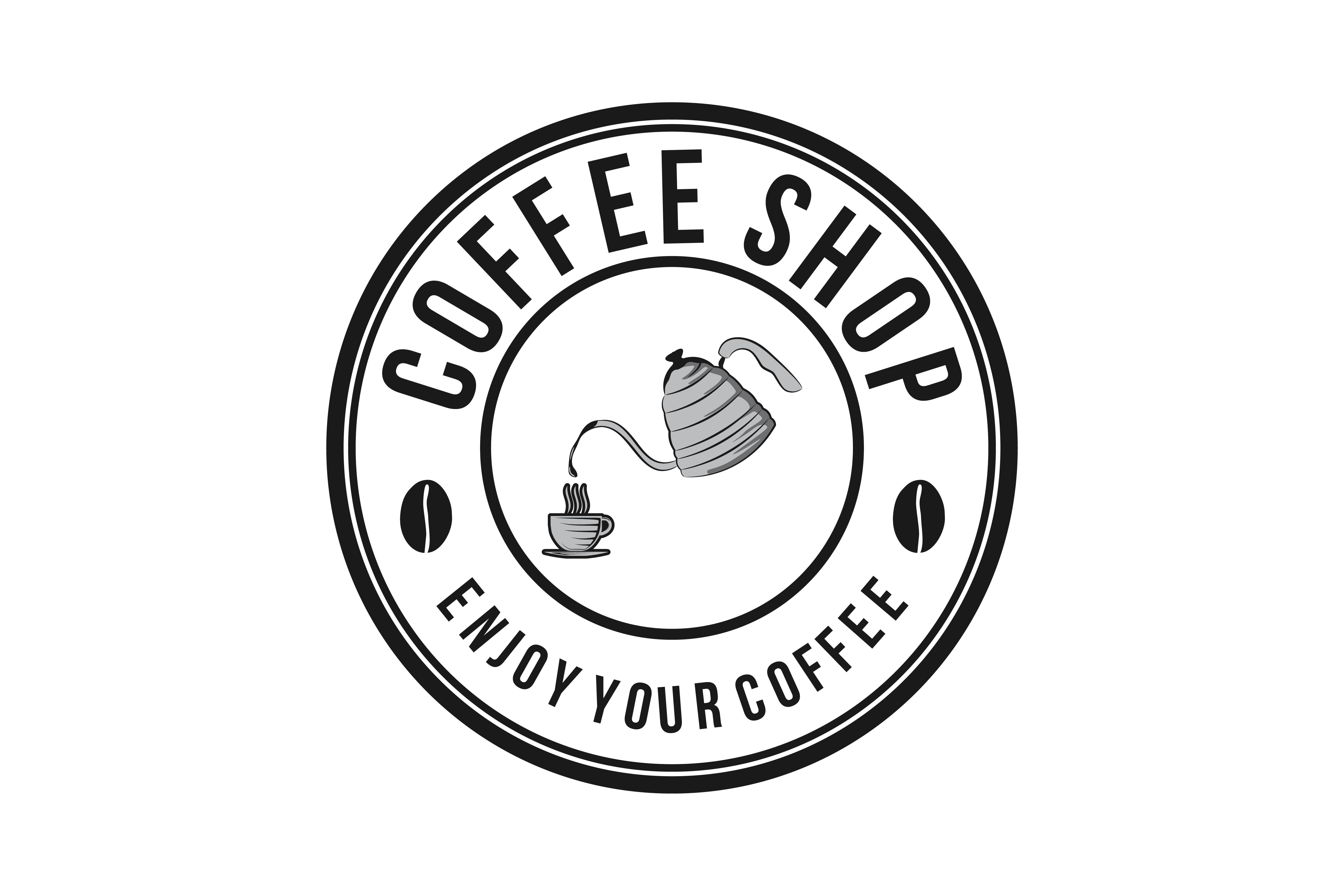 Download Free Pouring Coffee To Glass Vintage Coffee Logo Grafico Por for Cricut Explore, Silhouette and other cutting machines.