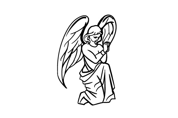 Download Free Praying Angel Archivos De Corte Svg Por Creative Fabrica Crafts for Cricut Explore, Silhouette and other cutting machines.