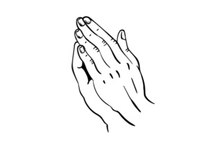 Praying Hands Religious Craft Cut File By Creative Fabrica Crafts