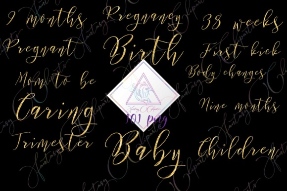 Download Free Pregnancy Word Art Graphic By Fantasycliparts Creative Fabrica for Cricut Explore, Silhouette and other cutting machines.