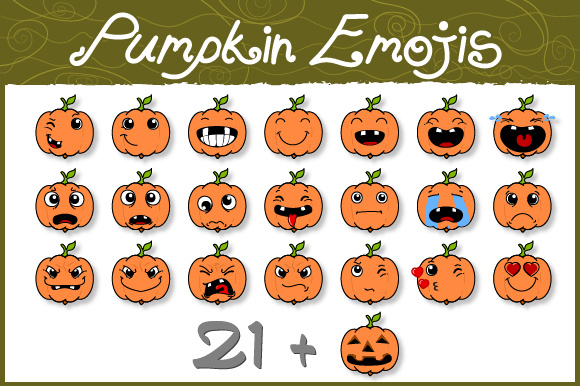 Download Free Pumpkin Emojis Graphic By Ebadi Roozbeh Creative Fabrica for Cricut Explore, Silhouette and other cutting machines.