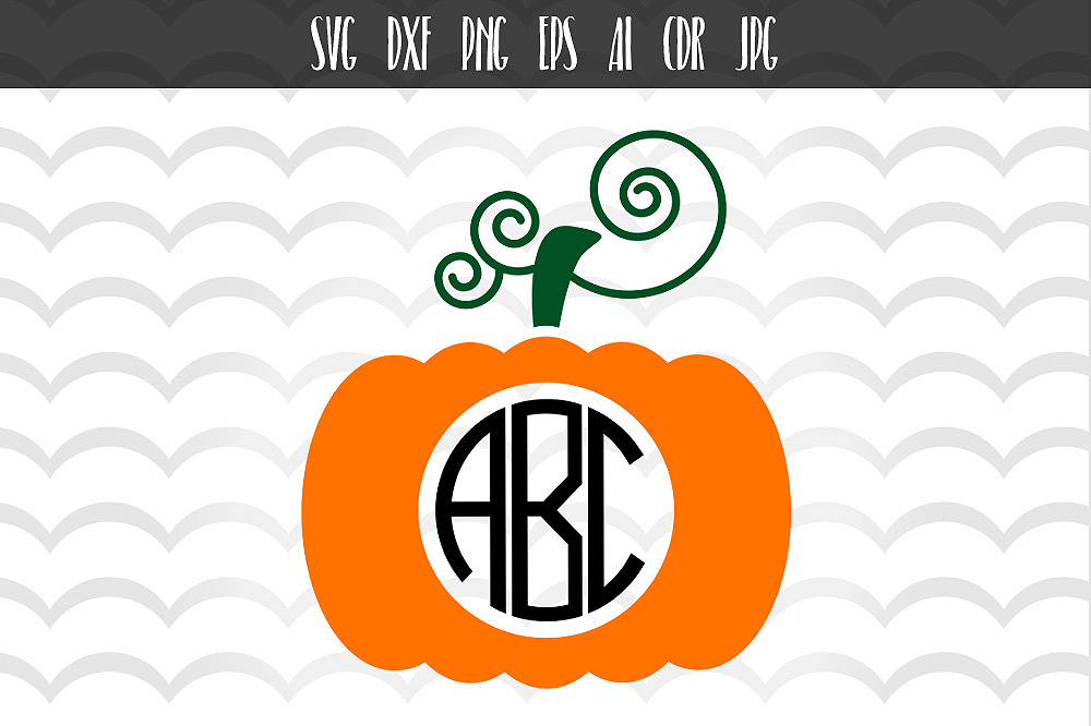 Download Free Pumpkin Monogram Frames Svg Graphic By Vector City Skyline for Cricut Explore, Silhouette and other cutting machines.