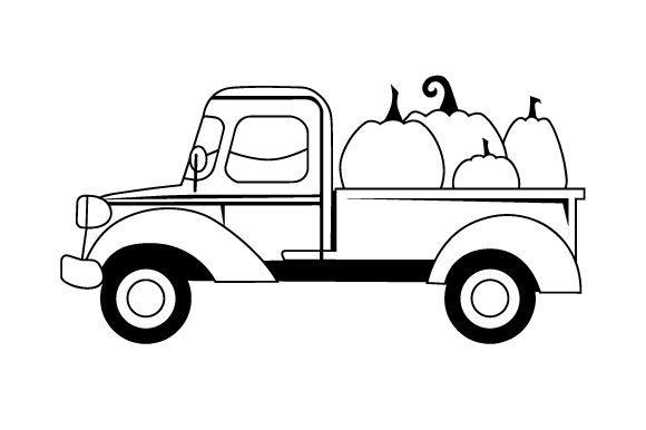 Pumpkin Truck Thanksgiving Craft Cut File By Creative Fabrica Crafts - Image 2