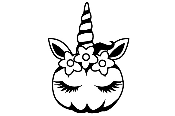 Pumpkin Unicorn Thanksgiving Craft Cut File By Creative Fabrica Crafts - Image 2