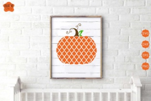 Download Free Quatrefoilc Pumpkin Graphic By Creativespace Creative Fabrica for Cricut Explore, Silhouette and other cutting machines.
