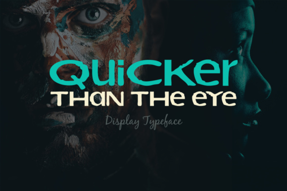 Print on Demand: Quicker Than the Eye Display Font By Shattered Notion
