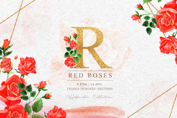 Print on Demand: R-rose Watercolor Set Graphic Illustrations By MyStocks