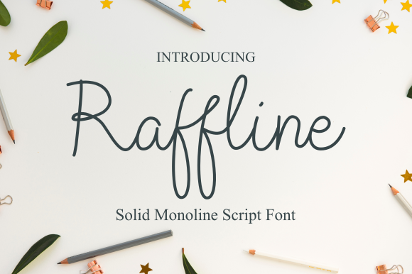Print on Demand: Raffline Script Script & Handwritten Font By Sibelumpagi Studio - Image 1