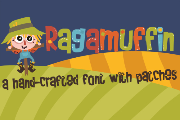 Print on Demand: Ragamuffin Display Font By Illustration Ink