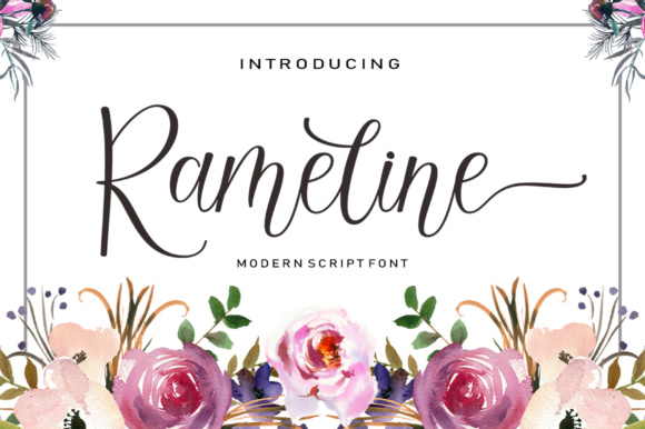 Print on Demand: Rameline Script Script & Handwritten Font By rotterlabstudio