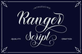 Print on Demand: Ranger Script Manuscrita Fuente Por LetterFreshStudio