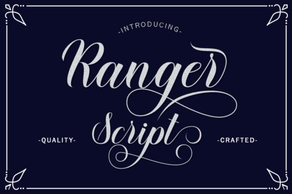 Print on Demand: Ranger Script Script & Handwritten Font By letterfreshstudio