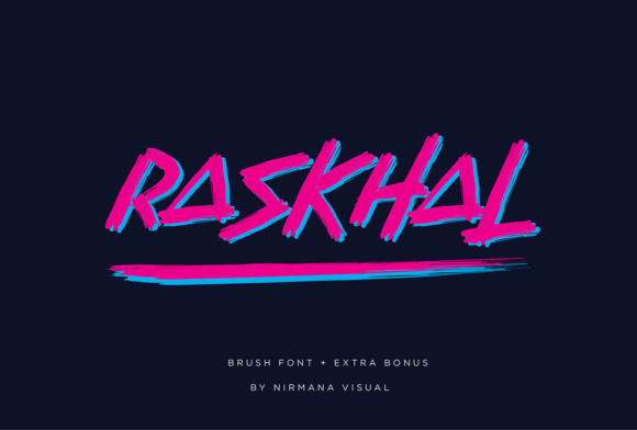 Print on Demand: Raskhal Display Font By Sigit Dwipa